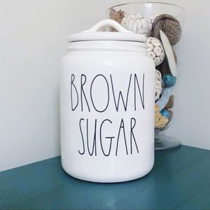Rae Dunn BROWN SUGAR kitchen canister NEW
